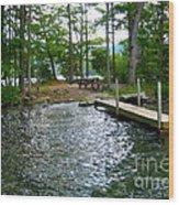 Dock Side Camping Wood Print