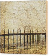 Dock Wood Print by Skip Nall