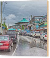 Dock Street - Cedar Key Wood Print
