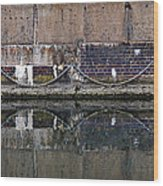 Dock Wall Wood Print by Mark Rogan