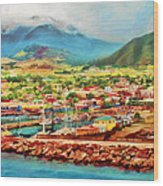 Docked In St. Kitts Wood Print