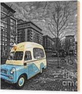 Docklands Ice Cream  Wood Print