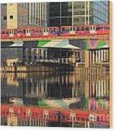 Docklands Railway London Wood Print