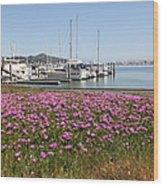 Docks At Sausalito California 5d22695 Wood Print