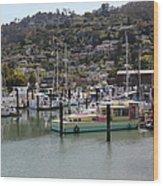 Docks At Sausalito California 5d22697 Wood Print by Wingsdomain Art and Photography