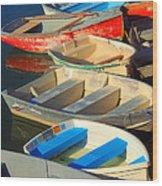 Dockside Parking Wood Print