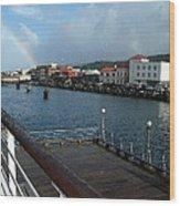 Dockside Rainbow  Wood Print