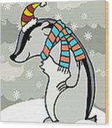Doctor Derby Winter Wood Print by Christy Beckwith