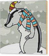 Doctor Derby Winter Wood Print