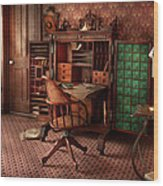 Doctor - Desk - The Physician's Office  Wood Print