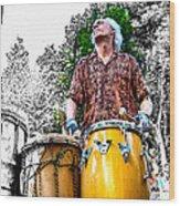Doctor Drum Wood Print