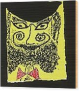 Doctor Goldfish - Krakauer. Judaica . Shabbat Shalom. - King Without A Crown.  Featured 6 Times Wood Print