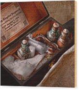 Doctor - Hospital Knapsack  Wood Print by Mike Savad