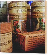 Doctor - Liver Pills In General Store Wood Print