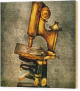 Doctor - Microscope - The Start Of Modern Science Wood Print by Mike Savad