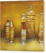 Doctor - Oil Essences Wood Print by Mike Savad