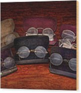 Doctor - Optometrist - Array Of Opticals Wood Print by Mike Savad