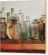 Doctor - Row Of Medicine Bottles Wood Print