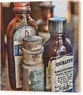 Doctor The Mercurochrome Bottle Wood Print