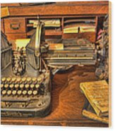 Doctor - The Physician's Desk II Wood Print by Lee Dos Santos