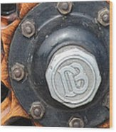 Dodge Brothers Hubcap And Spokes Wood Print