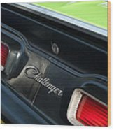 Dodge Challenger 440 Magnum Rt Taillight Emblem Wood Print by Jill Reger