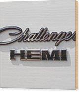 Dodge Challenger Hemi Emblem Wood Print