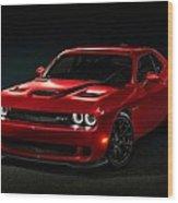 Dodge Challenger S R T Hellcat Wood Print