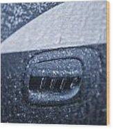Dodge Charger Frozen Car Handle Wood Print