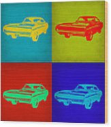 Dodge Charger Pop Art 2 Wood Print