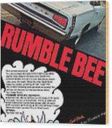 Dodge Coronet Super Bee - Rumble Bee Wood Print