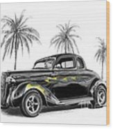 Dodge Coupe Wood Print