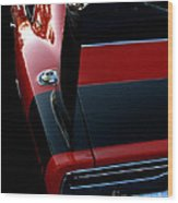 Dodge Daytona Fin Wood Print