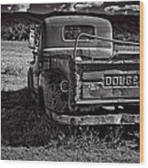 Dodge In The Zone Wood Print