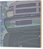 Dodge Ram With Decreased Color Value Wood Print