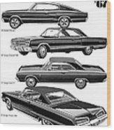 Dodge Rebellion '67 Wood Print