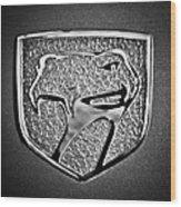 Dodge Viper Emblem -217bw Wood Print