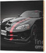 Dodge Viper Srt Wood Print