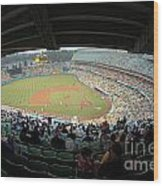 Dodger Stadium Wood Print by Micah May