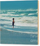 Does The Ocean Ever Stops Wood Print