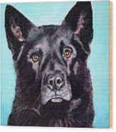 Does This Include Me Black Dog Wood Print