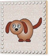 Dog - Animals - Art For Kids Wood Print by Anastasiya Malakhova