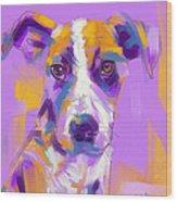 Dog Charlie Wood Print