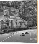 Dog Day Afternoon Bw Wood Print