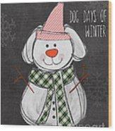 Dog Days  Wood Print by Linda Woods