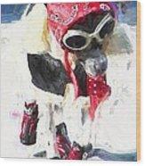 Dog Daze 8 Wood Print