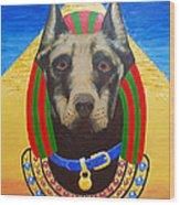 Dog God Wood Print