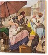 Dog Groomers, 1820 Wood Print