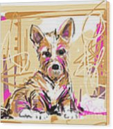 dog I did not make this mess Wood Print