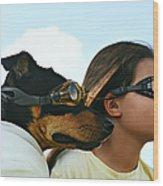 Dog Is My Co-pilot Wood Print